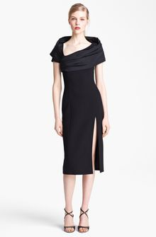 Michael Kors Portrait Collar Stretch Bouclé Dress - Lyst