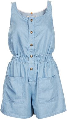 Moto Blue Utility Playsuit - Lyst