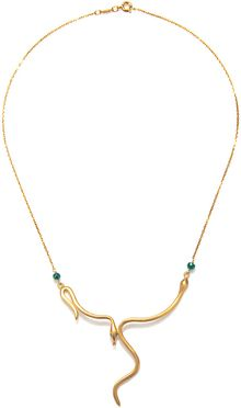 Satya Jewelry Snake Necklace in Gold - Lyst
