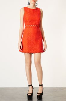 Topshop Swinging Sixties Lace Dress - Lyst