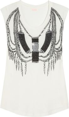 Sass & Bide Tough It Out Embellished Jersey Top - Lyst