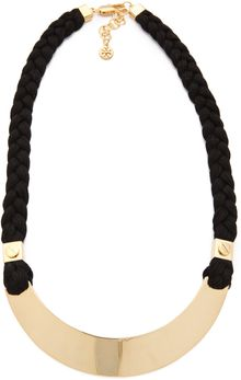Tory Burch Screw Rivet Rope Necklace - Lyst