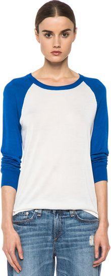 Equipment Kourtney Crew in Bluewhite - Lyst