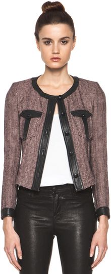 Isabel Marant Kacie Summer Tweed Jacket in Prints - Lyst