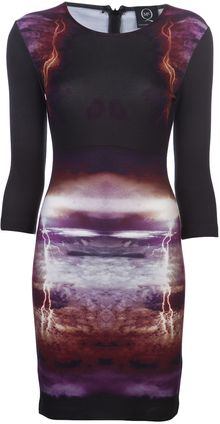 McQ by Alexander McQueen Lightening Long Sleeve Dress - Lyst