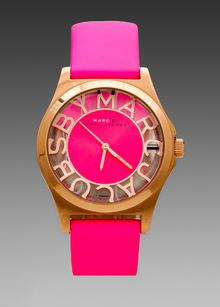 Marc By Marc Jacobs Henry Skeleton Watch in Pink - Lyst
