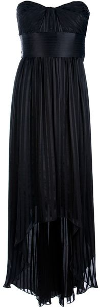 BCBGMAXAZRIA Ruched Strapless Dress - Lyst