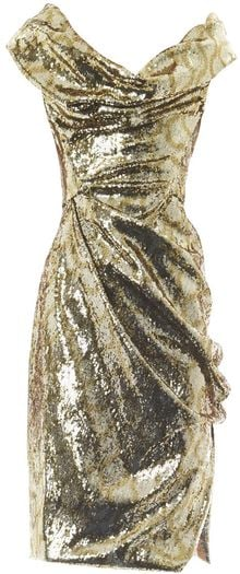 Vivienne Westwood Gold Label Sequin Squiggleprint Fitted Dress - Lyst