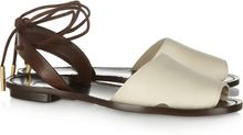 Maiyet Twotone Leather Sandals - Lyst