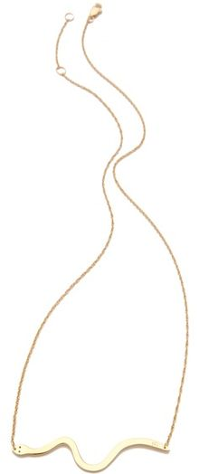 Jennifer Zeuner Jewelry Skinny Diamond Snake Necklace - Lyst
