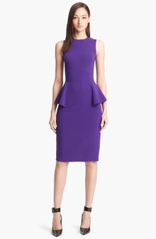 Michael Kors Peplum Wool Crepe Sheath Dress - Lyst