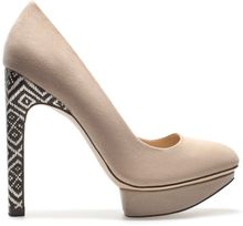 Zara High Heel Platform Court Shoe - Lyst