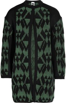 M Missoni Wool and Cotton blend Jacquard Cardicoat - Lyst
