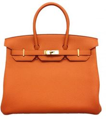Hermes Orange Togo Birkin with Gold - Lyst