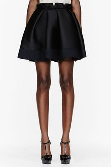 Lanvin Black Pleated Crepe Skirt - Lyst