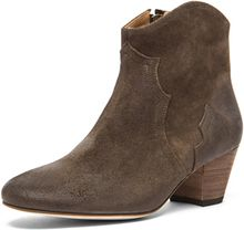 Isabel Marant Dicker Velvet Boot in Brown - Lyst