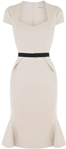 Karen Millen Structured Jersey Dress - Lyst