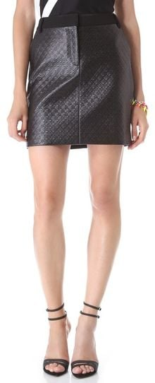 Tibi Embossed Diamond Trouser Skirt - Lyst