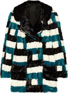 Anna Sui Patchwork Faux Fur Coat - Lyst