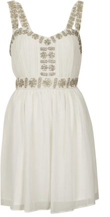 Topshop Embellished Strap Dress - Lyst
