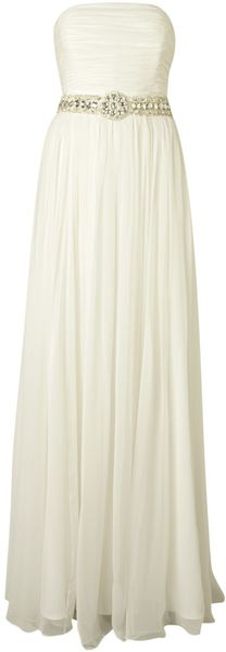 Anoushka G Layla Strapless Empire Silk Dress - Lyst