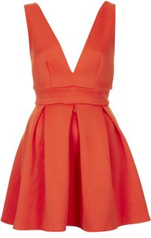 Topshop Deep V Scuba Dress By Oh My Love - Lyst