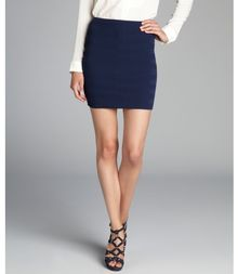Torn By Ronny Kobo Navy Blue Claire Knit Mini Skirt - Lyst
