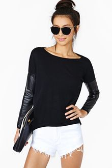 Nasty Gal Tough It Out Knit Black - Lyst
