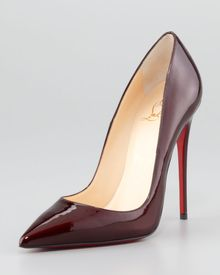 Christian Louboutin So Kate Patent Leather Point Toe Pumps - Lyst