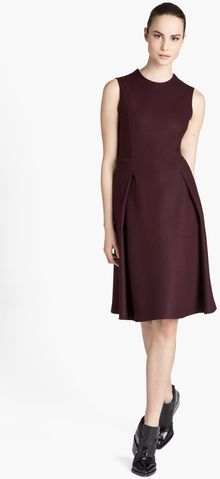 Jil Sander Pleated Wool Jersey Dress - Lyst