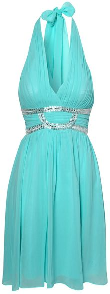 Jane Norman Halter Neck Embellished Prom Dress - Lyst