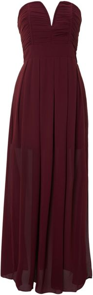 Tfnc Strapless Maxi Dress - Lyst