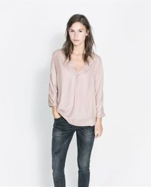 Zara Blouse with Reinforced Neckline - Lyst