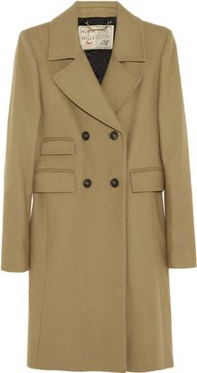 Aubin & Wills Threddingworth Brushed wool Coat - Lyst