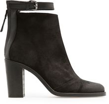Mango Touch Coated Leather Ankle Boots - Lyst