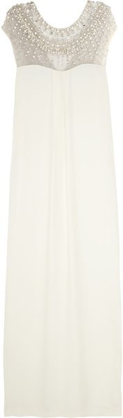 Temperley London Crystal Embellished Crepe Column Gown - Lyst