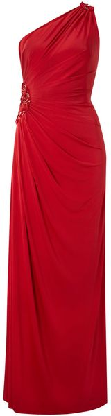 Anoushka G One Shoulder Rouched Dress - Lyst
