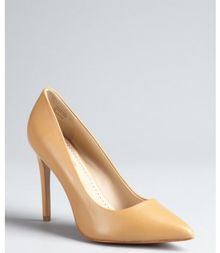 Pour La Victoire Camel Leather Classic Pointed Toe Easton Pumps - Lyst