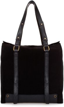 Zara Suede Combined Shopper Bag - Lyst