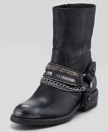 Vera Wang Lavender Valencia Moto Leather Boot Black - Lyst