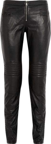 McQ by Alexander McQueen Motocross Skinny Leather Pants - Lyst