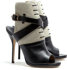 Paul Andrew Pegasus Leather and Suede Sandals - Lyst