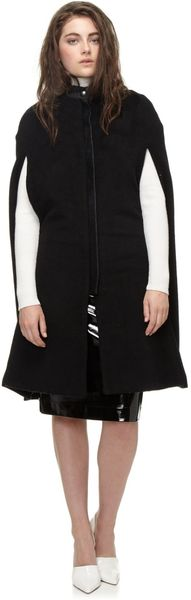 Paper London Marmolada Black Wool Cape  - Lyst