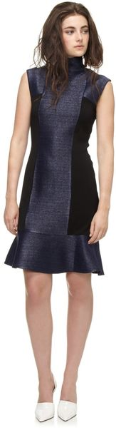 Paper London Navy Blue Civetta Dress - Lyst