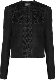 Isabel Marant Embroidered Shearling Jacket - Lyst