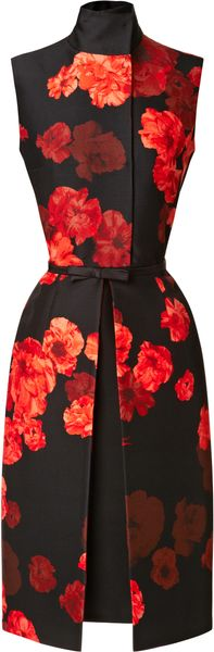 Giambattista Valli Wool blend Floral Printed Dress - Lyst