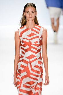 Richard Chai Spring 2014 Sleeveless Mid-Lenght Dress with Abstract Print - Lyst
