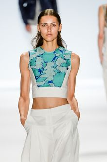 Richard Chai Spring 2014 Sleeveless Cropped Top - Lyst