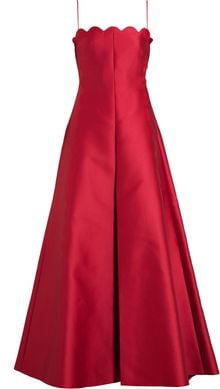Valentino Scalloped Silk Blend Gown - Lyst
