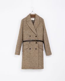 Zara Masculine Coat with Checked Lining - Lyst